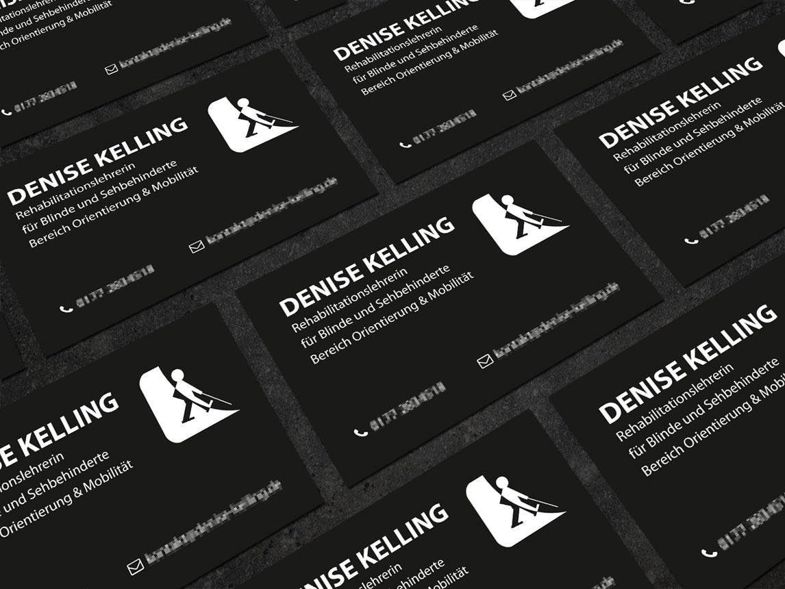 Visitenkarte Schwarz Weiß